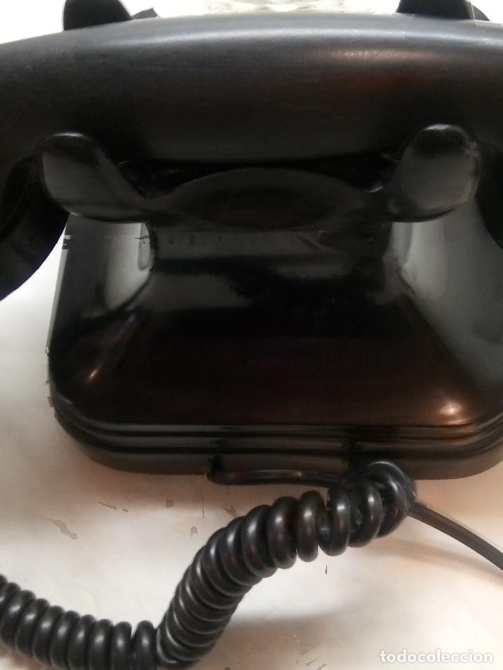 Teléfonos: ANTIGUO TELEFONO DE MESA. 1.955/60 - TELEFONICA. FUNCIONANDO. BUEN ESTADO. DESCRIP. Y FOTOS. - Foto 6 - 254567165