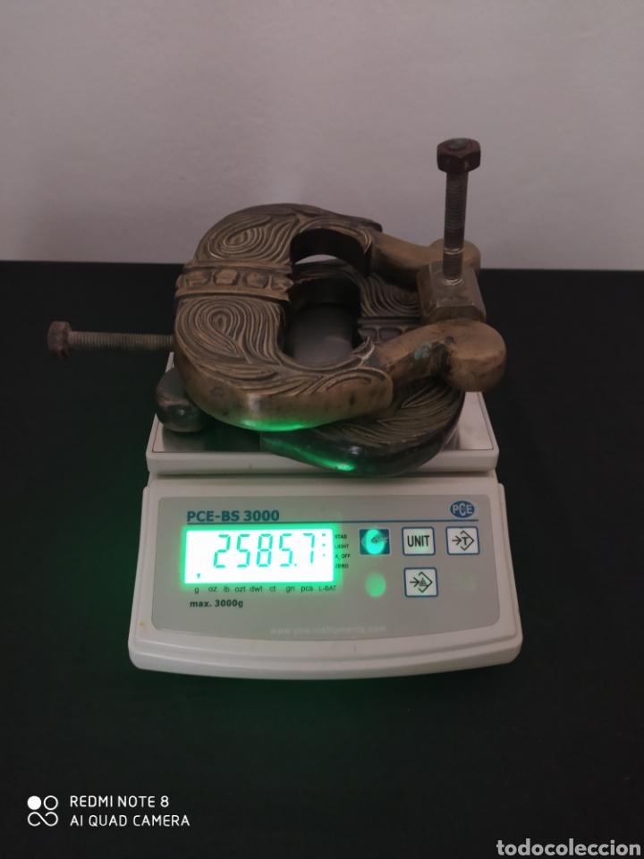 Antigüedades: ANTIGUA PAREJA DE ALDABAS DE BRONCE (GRANDES) - Foto 10 - 254583925