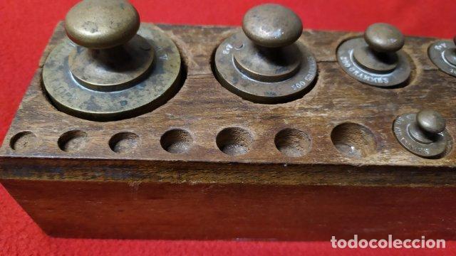 Antigüedades: ANTIGUO JUEGO DE PESAS FRANCES - Foto 2 - 254629075