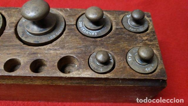 Antigüedades: ANTIGUO JUEGO DE PESAS FRANCES - Foto 3 - 254629075