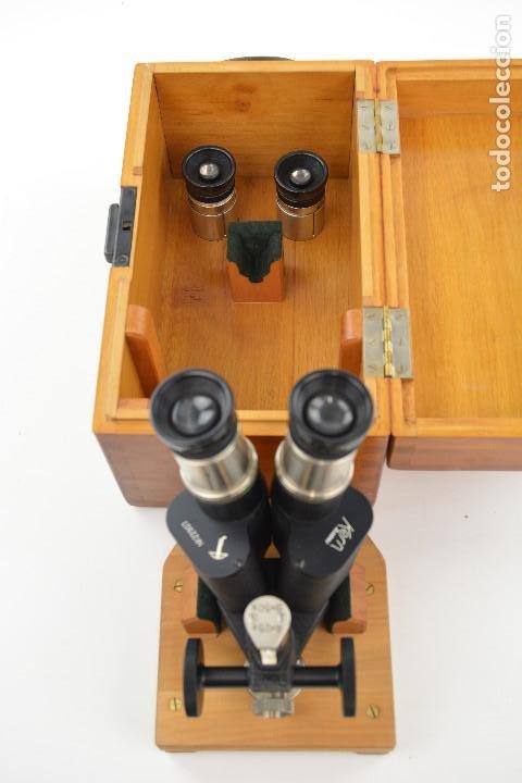 MICROSCÓPIO KERN AARAU - SUIZA. (Antigüedades - Técnicas - Instrumentos Ópticos - Microscopios Antiguos)