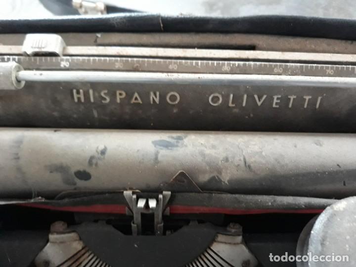 Antigüedades: Maquina escribir portatil hispano olivetti - Foto 2 - 254733675