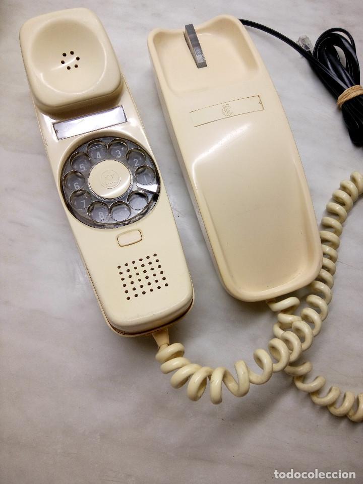 TELEFONO GONDOLA DE MESA. TELEFONICA. FUNCIONANDO. AÑOS 70. COLOR CREMA. FOTOS. (Antigüedades - Técnicas - Teléfonos Antiguos)