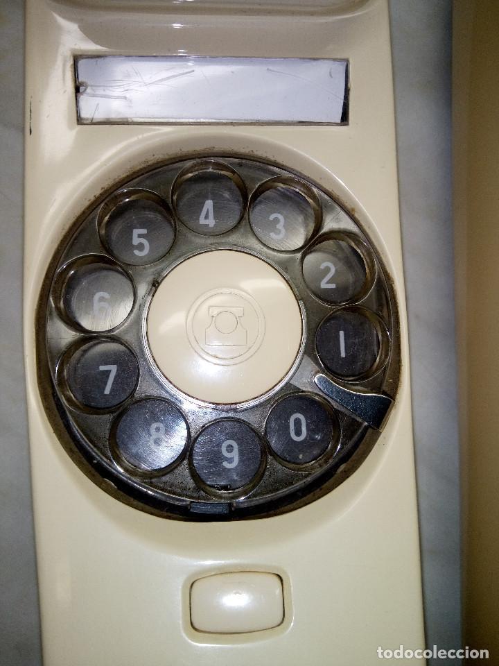 Teléfonos: TELEFONO GONDOLA DE MESA. TELEFONICA. FUNCIONANDO. AÑOS 70. COLOR CREMA. FOTOS. - Foto 3 - 254747510
