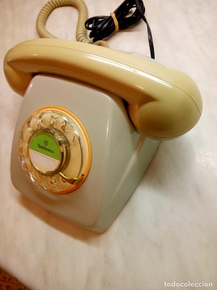Teléfonos: TELEFONO HERALDO DE MESA. TELEFONICA. AÑOS 70. FUNCIONANDO. DESCRIPCION Y FOTOS. - Foto 2 - 254757020