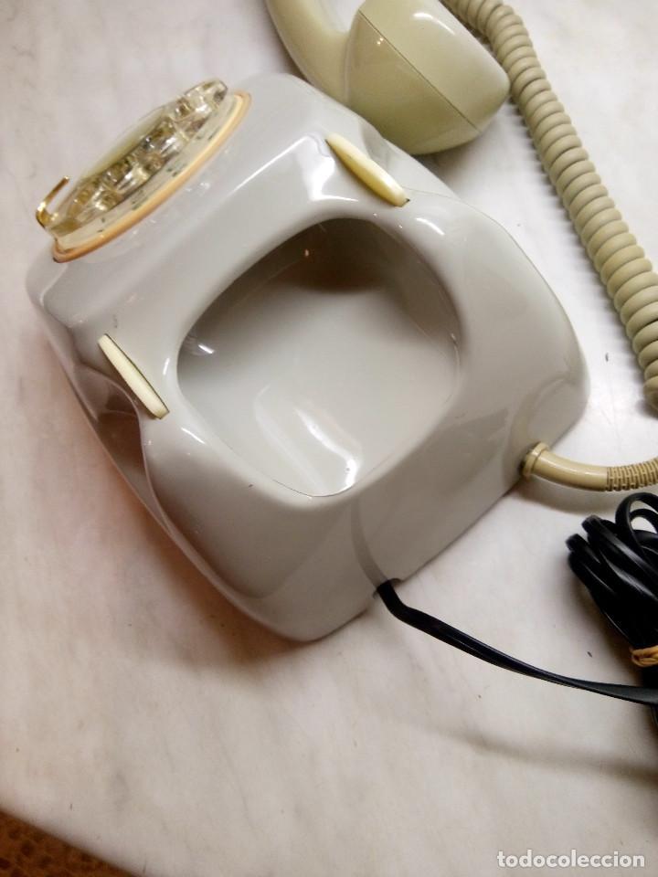 Teléfonos: TELEFONO HERALDO DE MESA. TELEFONICA. AÑOS 70. FUNCIONANDO. DESCRIPCION Y FOTOS. - Foto 5 - 254757020