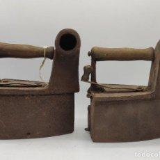 Antigüedades: PAREJA DE PLANCHA EN HIERRO FUNDIDO. MEDIDAS EN LA FOTOS. Lote 254771475
