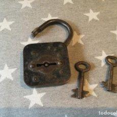 Antigüedades: CANDADO DE HIERRO FORJA. Lote 254779545