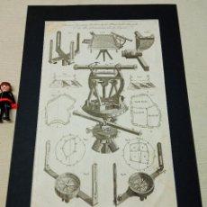 Antigüedades: GRABADO ORIGINAL XVIII LODGE SCULP.- TEODOLITO BRUJULAS .... Lote 254812580