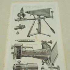 Antigüedades: GRABADO ORIGINAL S.XVIII - MICROSCOPIO LUCERRNAL ADAMS. Lote 254816975