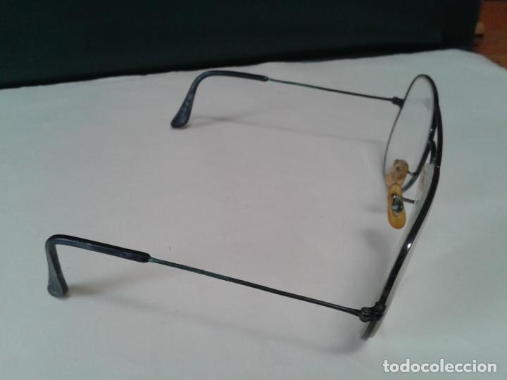 Antigüedades: Gafas Ray Ban graduadas para cambiar cristales. Con montura en negro. años 70. En buen estado - Foto 2 - 254829665