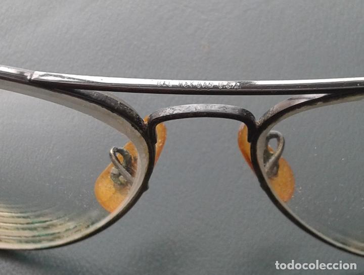 Antigüedades: Gafas Ray Ban graduadas para cambiar cristales. Con montura en negro. años 70. En buen estado - Foto 6 - 254829665