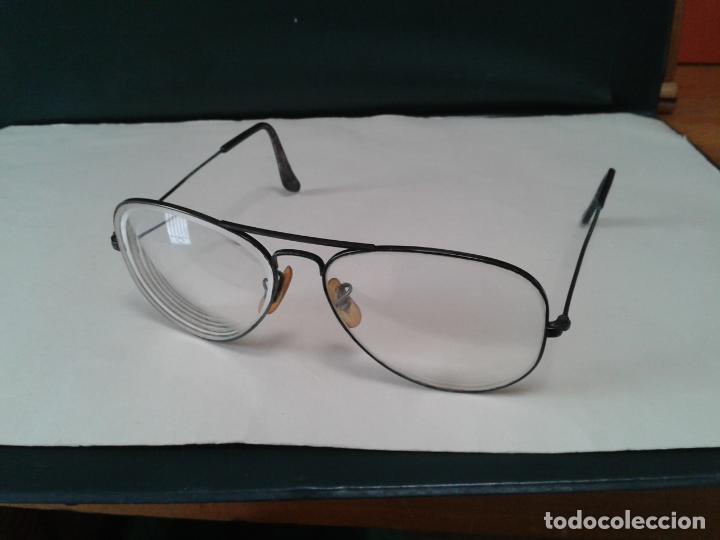 GAFAS RAY BAN GRADUADAS PARA CAMBIAR CRISTALES. CON MONTURA EN NEGRO. AÑOS 70. EN BUEN ESTADO (Antigüedades - Técnicas - Instrumentos Ópticos - Gafas Antiguas)