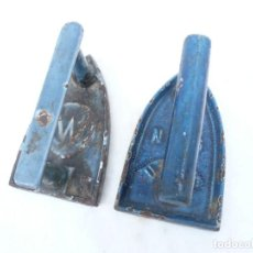 Antigüedades: PLANCHA DE HIERRO VIDRIADO FRANCESA. LOTE DE 2. Lote 254834160