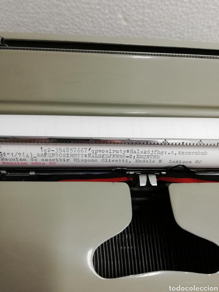 Antigüedades: Máquina de escribir años 60.Hispano Olivetti. Lexicon 80. - Foto 3 - 254912330