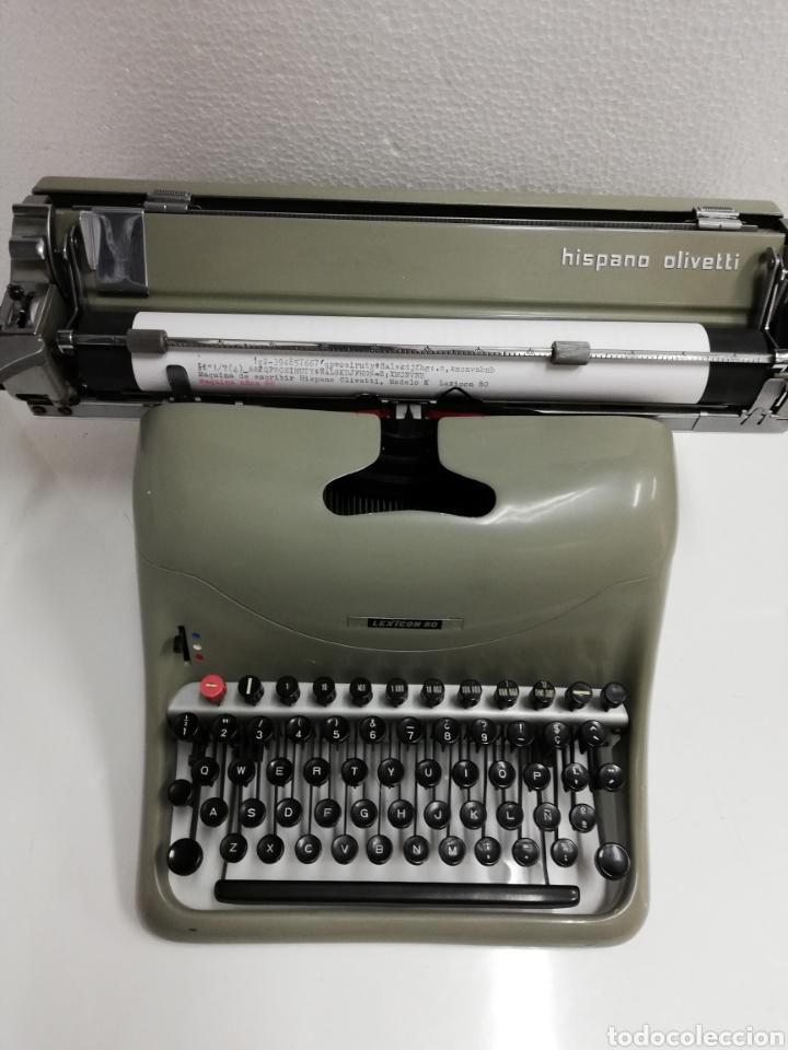 MÁQUINA DE ESCRIBIR AÑOS 60.HISPANO OLIVETTI. LEXICON 80. (Antigüedades - Técnicas - Máquinas de Escribir Antiguas - Olivetti)