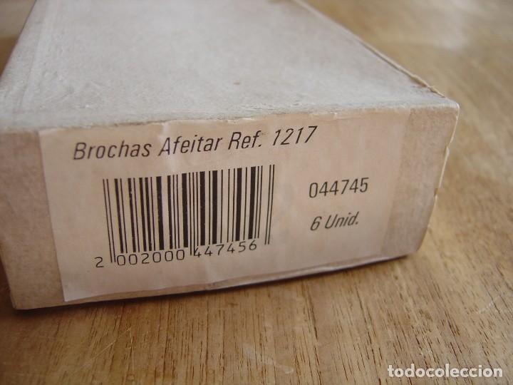 Antigüedades: CAJA CON SEIS BROCHAS DE AFEITAR. NUEVAS. - Foto 7 - 288989683