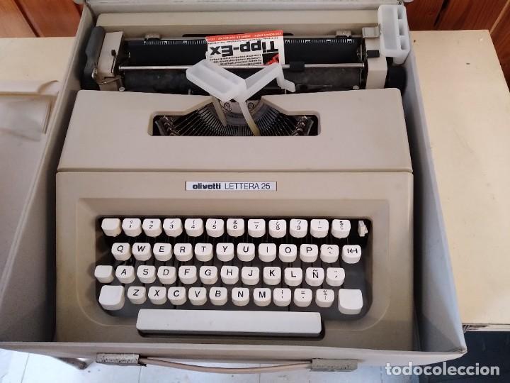 OLIVETTI LETTERA 25 MAQUINA DE ESCRIBIR (Antigüedades - Técnicas - Máquinas de Escribir Antiguas - Olivetti)