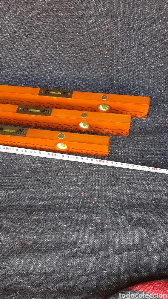 Antigüedades: antiguo lote de nivel de madera ingles - Foto 3 - 255397660