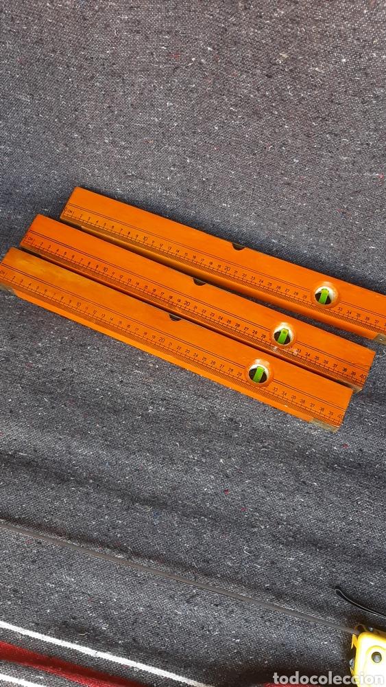Antigüedades: antiguo lote de nivel de madera ingles - Foto 6 - 255397660