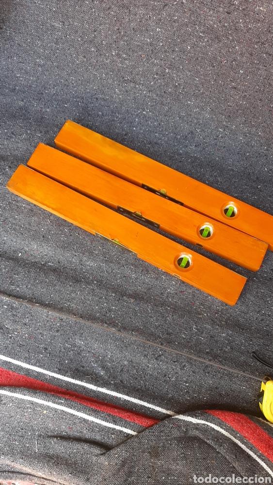 Antigüedades: antiguo lote de nivel de madera ingles - Foto 7 - 255397660