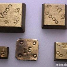 Antigüedades: LOTE 5 PONDERALES - JOSEP SURROCA - MARCA JP. Lote 255425240