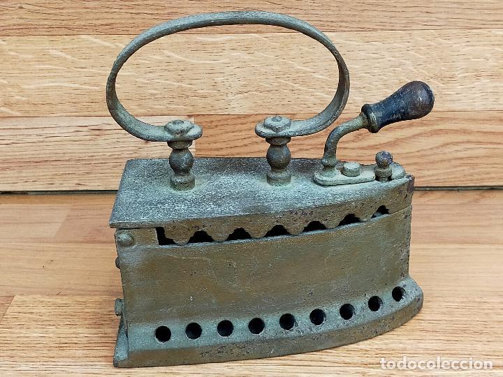 Antigüedades: PLANCHA CARBON - Foto 2 - 255428505