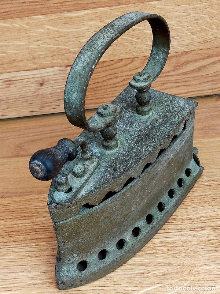 Antigüedades: PLANCHA CARBON - Foto 3 - 255428505