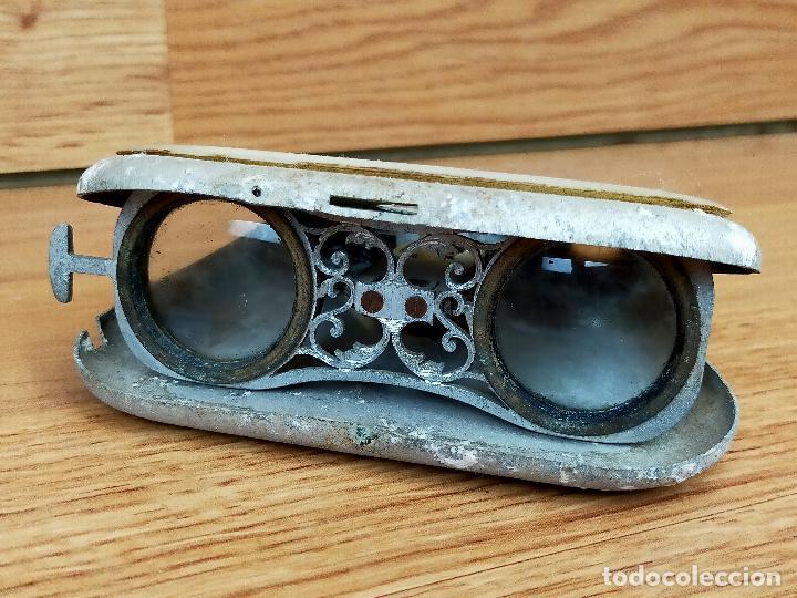 BINOCULARES EN NACAR PARA PIEZAS O RESTAURAR (Antigüedades - Técnicas - Instrumentos Ópticos - Binoculares Antiguos)