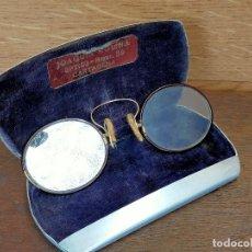 Antigüedades: GAFAS ANTIGUAS CON FUNDA JOAQUIN MOLINA CARTAGENA. Lote 255446670