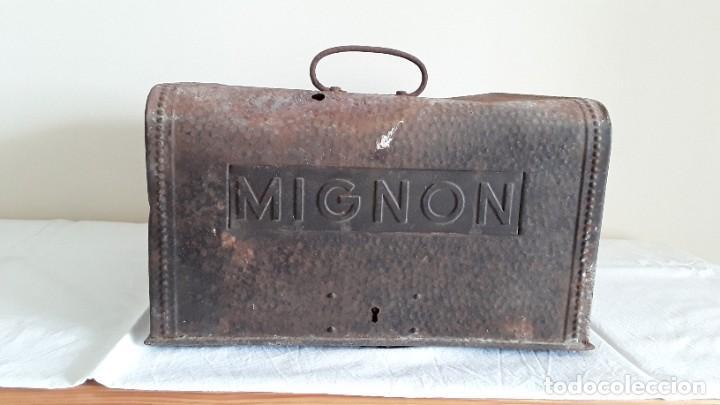 FUNDA MÁQUINA ESCRIBIR MIGNON (Antigüedades - Técnicas - Máquinas de Escribir Antiguas - Mignon)