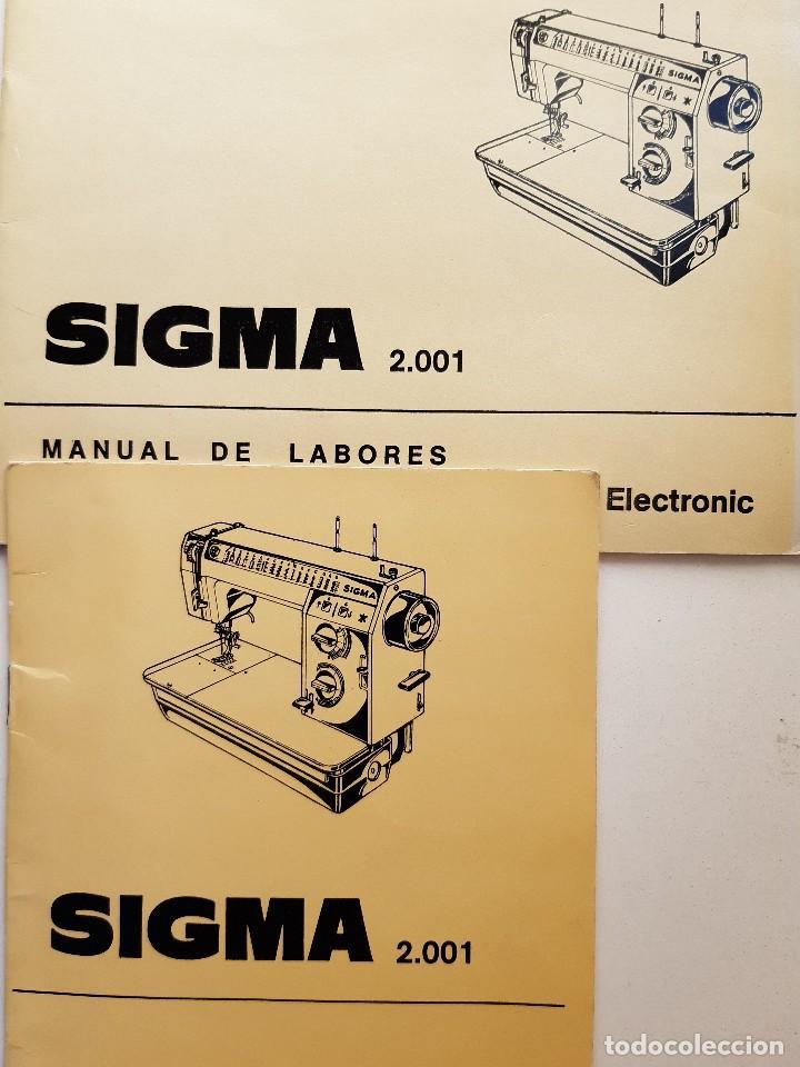 SIGMA LIBRO DE INSTRUCCIONES Y MANUAL DE LABORES 2001 (Antigüedades - Técnicas - Máquinas de Coser Antiguas - Sigma)