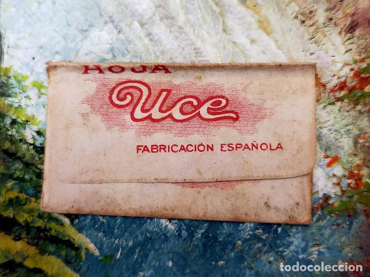 Antigüedades: RARA HOJA DE AFEITAR UCE COMPLETA CONTENIDO ORIGINAL - Foto 2 - 255503530