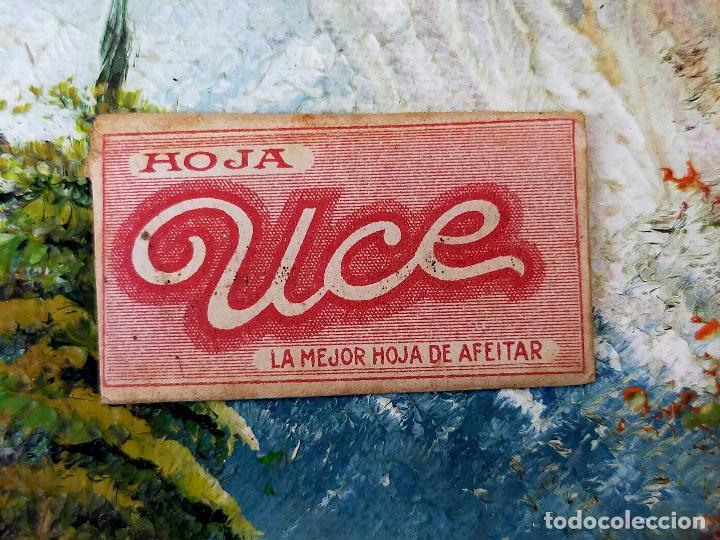 RARA HOJA DE AFEITAR UCE COMPLETA CONTENIDO ORIGINAL (Antigüedades - Técnicas - Barbería - Hojas de Afeitar Antiguas)