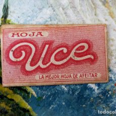 Antigüedades: RARA HOJA DE AFEITAR UCE COMPLETA CONTENIDO ORIGINAL. Lote 255503530