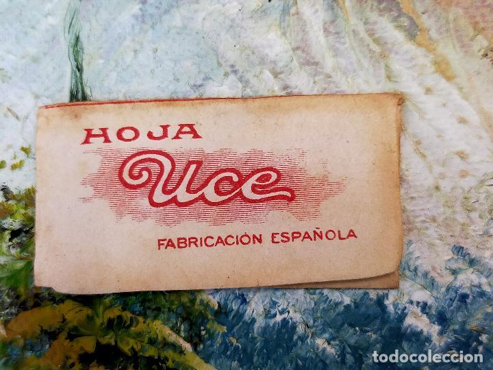 Antigüedades: RARA HOJA DE AFEITAR UCE COMPLETA - CONTENIDO ORIGINAL - Foto 2 - 255504910
