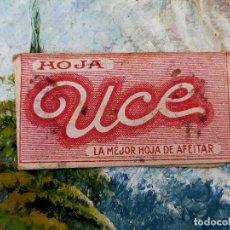 Antigüedades: RARA HOJA DE AFEITAR UCE COMPLETA - CONTENIDO ORIGINAL. Lote 255504910