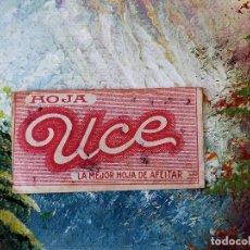 Antigüedades: RARA HOJA DE AFEITAR UCE COMPLETA - CONTENIDO ORIGINAL. Lote 255504995