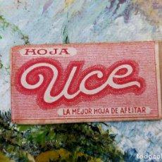 Antigüedades: RARA HOJA DE AFEITAR UCE COMPLETA - CONTENIDO ORIGINAL. Lote 255505055