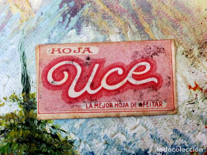RARA HOJA DE AFEITAR UCE COMPLETA - CONTENIDO ORIGINAL (Antigüedades - Técnicas - Barbería - Hojas de Afeitar Antiguas)