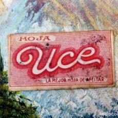 Antigüedades: RARA HOJA DE AFEITAR UCE COMPLETA - CONTENIDO ORIGINAL. Lote 255505130