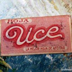 Antigüedades: RARA HOJA DE AFEITAR UCE COMPLETA - CONTENIDO ORIGINAL. Lote 255512300