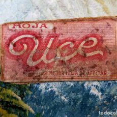 Antigüedades: RARA HOJA DE AFEITAR UCE COMPLETA - CONTENIDO ORIGINAL. Lote 255512340