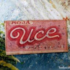 Antigüedades: RARA HOJA DE AFEITAR UCE COMPLETA - CONTENIDO ORIGINAL. Lote 255512405