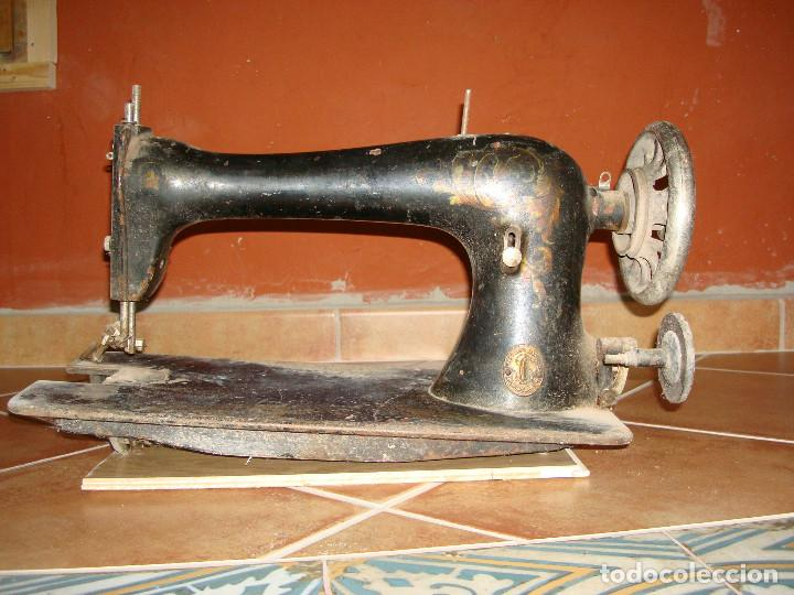 Antigüedades: cabeza de maquina de coser singer grande - Foto 3 - 255514940