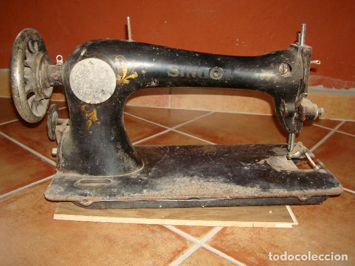 Antigüedades: cabeza de maquina de coser singer grande - Foto 7 - 255514940