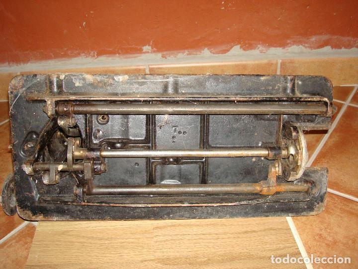 Antigüedades: cabeza de maquina de coser singer grande - Foto 14 - 255514940