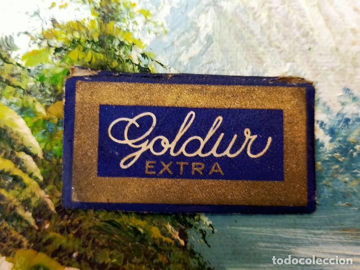 HOJA DE AFEITAR GOLDUR Y EXTREMADAMENTE RARA (Antigüedades - Técnicas - Barbería - Hojas de Afeitar Antiguas)