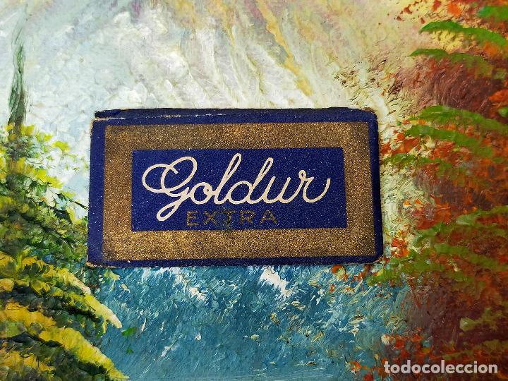 HOJA DE AFEITAR GOLDUR - COMPLETA Y EXTREMADAMENTE RARA (Antigüedades - Técnicas - Barbería - Hojas de Afeitar Antiguas)
