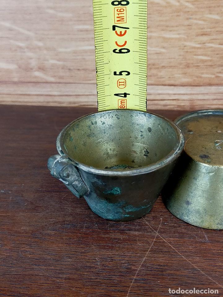 Antigüedades: PONDERAL DE VASO ANIDADO - VER MARCAJES - Foto 4 - 255566260